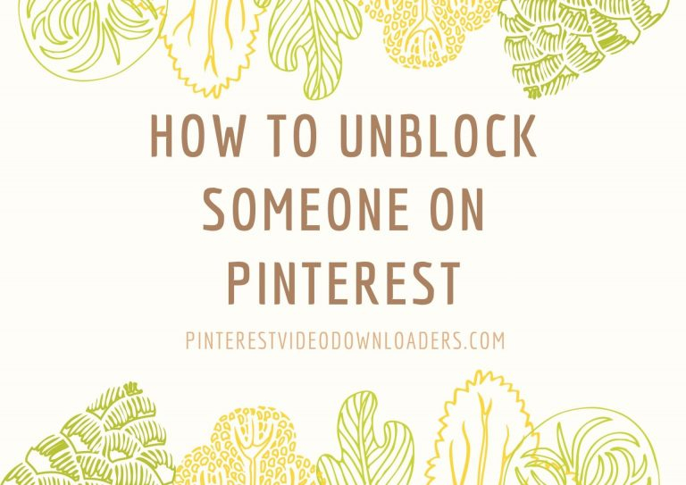 How to unblock someone on pinterest