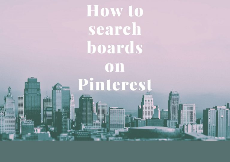 How to search boards on Pinterest